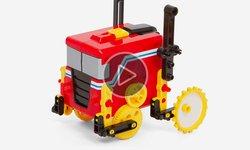 """Revista en video de juego de construcción CIC 21-891 """"Robot motorizado"""" 4 en 1"""