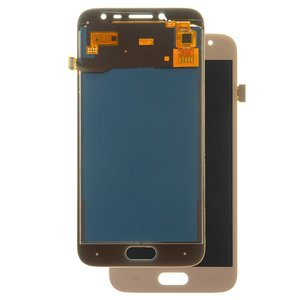LCD compatible with Samsung J250 Galaxy J2 (2018), J250 Galaxy J2 Pro (2018), (golden, with touchscreen, with light adjustable, (TFT), Copy)