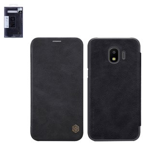 Case Nillkin Qin leather case compatible with Samsung J250 Galaxy J2 (2018), (black, flip, PU leather, plastic) #6902048156586