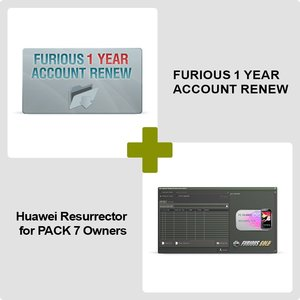 Furious 1 Year Account Renew + Huawei Resurrector for PACK 7 Owners