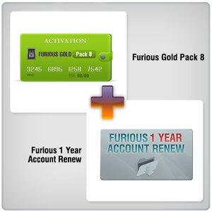 Renovación de acceso al servidor Furious Gold por 1 año  + Furious Gold Pack 8