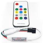 Controlador LED con control remoto por radio SP103E (RGB, WS2801, WS2811, WS2812, WS2813 5-24 V)