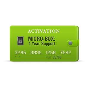 Micro-Box: Активация поддержки на 1 год