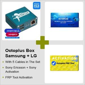 Octoplus Box Samsung + LG + FRP Tool + Активация Unlimited для Sony Ericsson + Sony с набором кабелей 5 в 1