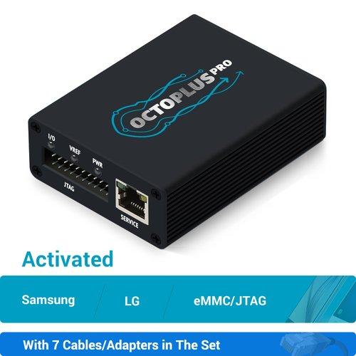 Octoplus Pro Box с набором кабелів 7 в 1 (з активацією Samsung + LG + eMMC/JTAG)