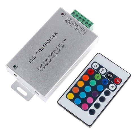 Контролер з ІЧ пультом HTL 010 RGB, 5050, 3528, 144 Вт