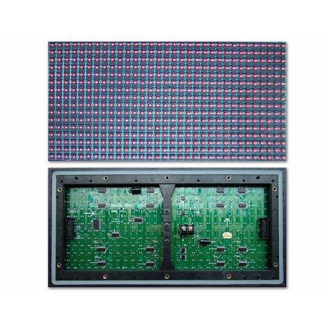 LED модуль для реклами P10 Red 320 × 160 мм, 32 × 16 точок, IP65, 2000 нт
