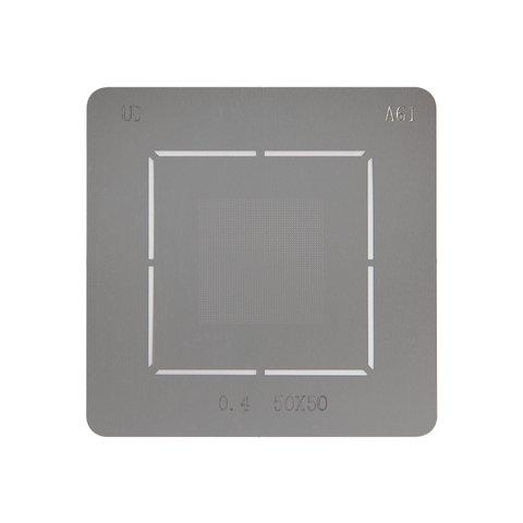 Универсальный BGA-трафарет A61, шаг 0,4 мм, 40*40
