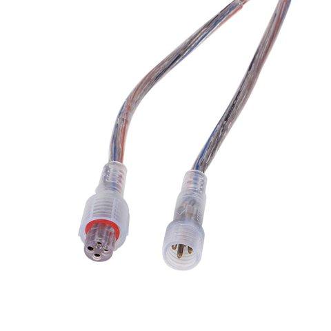 З'єднувальний 4 контактний кабель живлення для світлодіодних стрічок, male+female роз'єм IP65