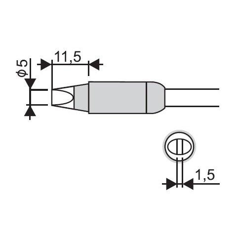 Soldering Iron Tip Goot RX 85HRT 5D