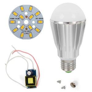 Juego de piezas para armar lámpara LED regulable SQ-Q17 5730 7 W (luz blanca cálida, E27)