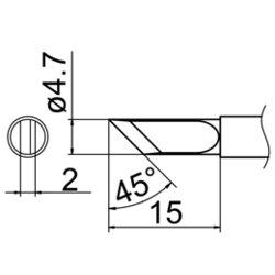 Soldering Tip HAKKO T12-K